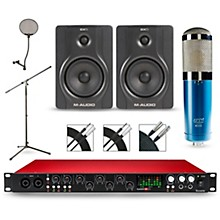 Focusrite Scarlett 18i20 Recording Package with MXL 4000 and M-Audio BX5 Pair