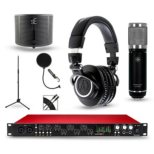 Focusrite Scarlett 18i20 Recording Package with Sterling ST59 and Audio-Technica ATH-M50X