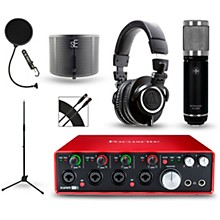 Focusrite Scarlett 18i8 2nd Gen Interface with Sterling ST59 and Audio-Technica ATH-M50X