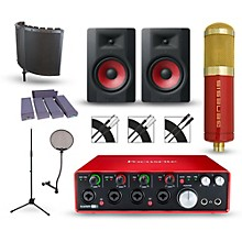 Focusrite Scarlett 18i8 Recording Package with MXL Genesis and M-Audio Limited Edition BX8 Pair