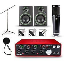 Focusrite Scarlett 18i8 Recording Package with Sterling ST51 and Mackie CR3 Pair