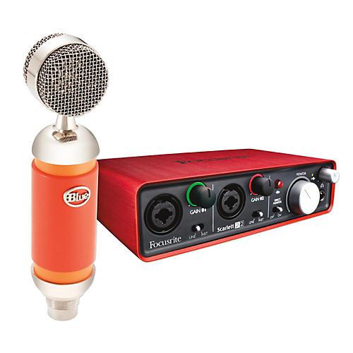 Focusrite Scarlett 2i2 Interface with Blue Spark Microphone Bundle