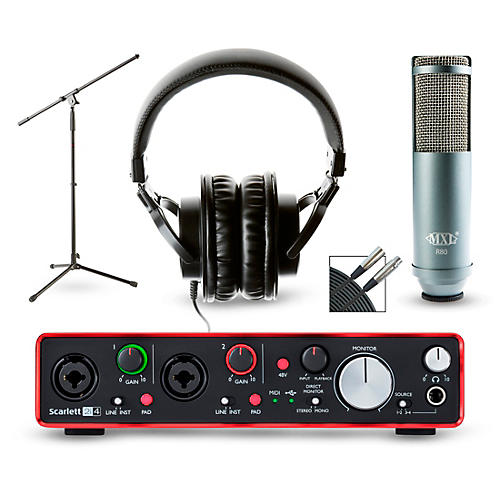 Focusrite Scarlett 2i4 Recording Package With Mxl R80 And