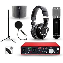Focusrite Scarlett 2i4 Recording Package with Sterling ST59 and  Audio-Technica ATH-M50X