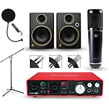 Focusrite Scarlett 6i6 Recording Package with Sterling ST51 and Mackie Limited Edition CR3 Pair