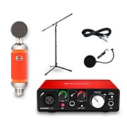 Focusrite Scarlett Solo Recording Bundle with Blue Spark Mic