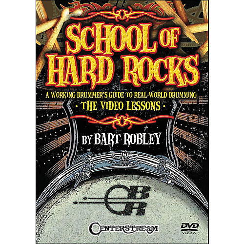 Centerstream Publishing School Of Hard Rocks: A Working Drummers Guide To Real World Drumming (2-Dvd Set)-thumbnail