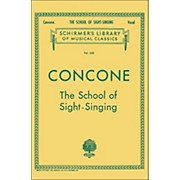 G. Schirmer School Of Sight-Singing - Vocal Practical Method for Young Beginners By Concone