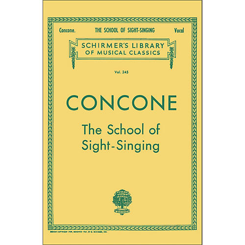 G. Schirmer School Of Sight-Singing - Vocal Practical Method for Young Beginners By Concone-thumbnail