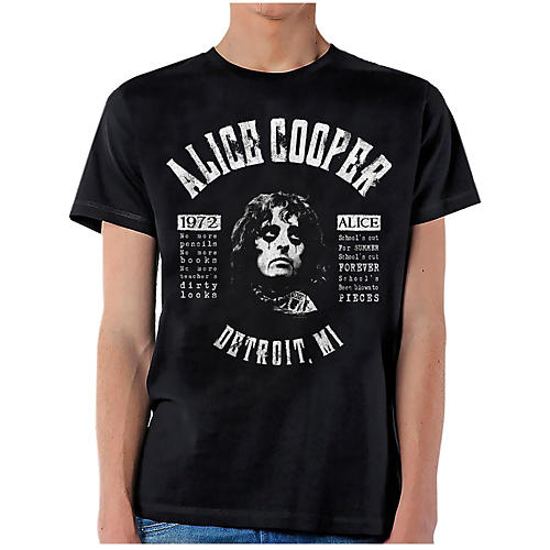 Alice Cooper School's Out Lyrics T-Shirt-thumbnail