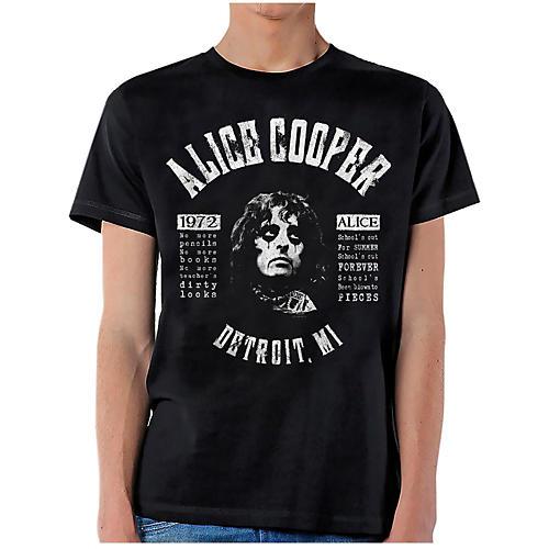 Alice Cooper School's Out Lyrics T-Shirt Medium