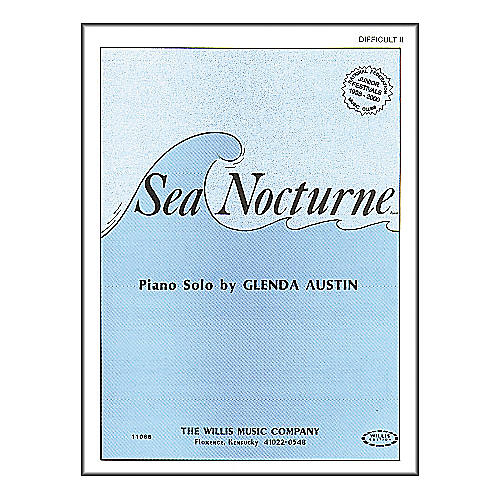 Willis Music Sea Nocturne Mid-Intermediate Level by Glenda Austin