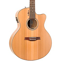 Seagull Natural Cherry CW Mini Jumbo SG Acoustic-Electric Guitar