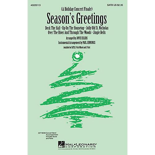 Hal Leonard Season's Greetings (Medley) SATB arranged by Joyce Eilers