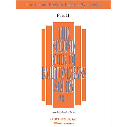 G. Schirmer Second Book Of Baritone  /Bass Solos Part 2 Book Only-thumbnail