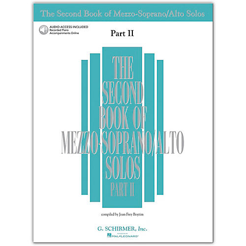 Hal Leonard Second Book/Online Audio Of Mezzo-Soprano / Alto Solos Part 2 Book/Online Audio