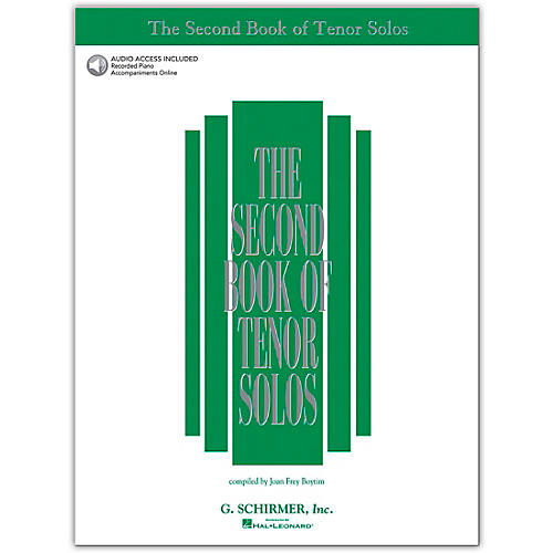 G. Schirmer Second Book/Online Audio Of Tenor Solos Book/Online Audio