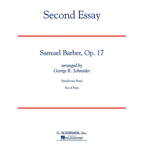 G. Schirmer Second Essay Concert Band Level 5 Composed by Samuel Barber