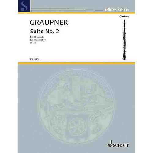 Schott Second Suite Schott Series Composed by Johann Christoph Graupner Arranged by Edgar Hubert Hunt