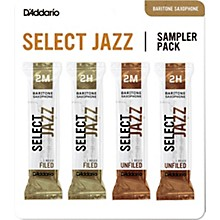 D'Addario Woodwinds Select Jazz Baritone Saxophone Reed Sampler Pack