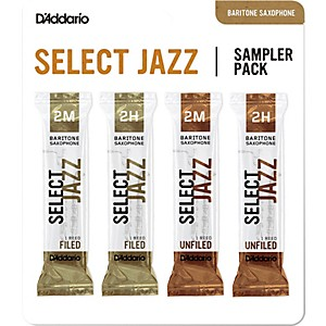 Daddario Woodwinds Select Jazz Baritone Saxophone Reed Sampler Pack