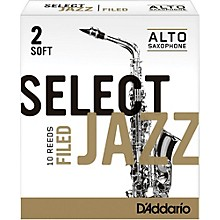 D'Addario Woodwinds Select Jazz Filed Alto Saxophone Reeds
