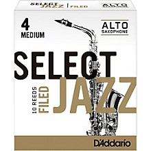 D'Addario Woodwinds Select Jazz Filed Alto Saxophone Reeds Strength 4 Medium Box of 10