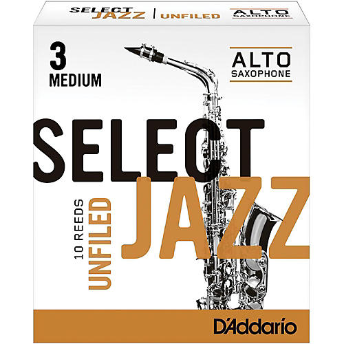 D'Addario Woodwinds Select Jazz Unfiled Alto Saxophone Reeds-thumbnail