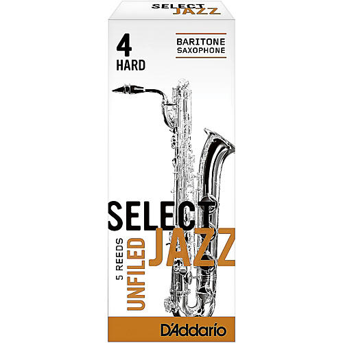 D'Addario Woodwinds Select Jazz Unfiled Baritone Saxophone Reeds-thumbnail