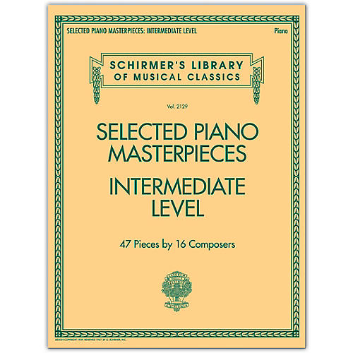 G. Schirmer Selected Piano Masterpieces - Intermediate Level Piano Collection Series Softcover