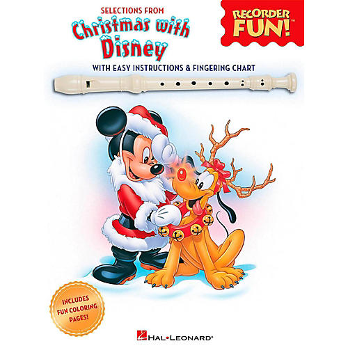 Hal Leonard Selections From Christmas With Disney - Recorder Fun! Songbook