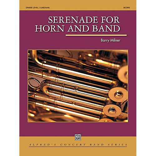 Alfred Serenade for Horn and Band Concert Band Grade 3 (Medium)-thumbnail