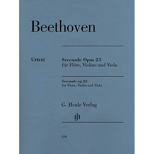 G. Henle Verlag Serenade in D Maj Op. 25 for Flute, Violin and Viola - Revised Edition Henle Music Softcover by Beethoven