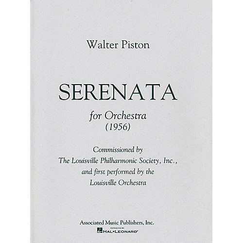 Associated Serenata (Full Score) Study Score Series Composed by Walter Piston