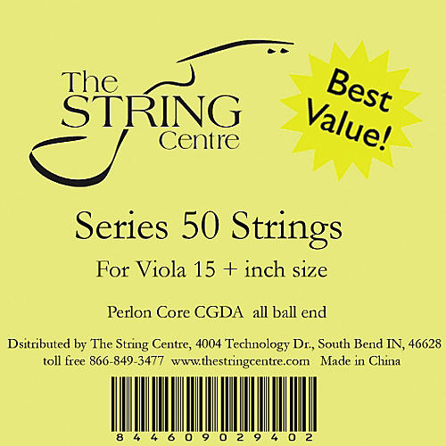 The String Centre Series 50 Viola String Set 15+ in.