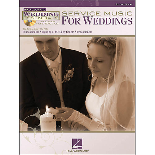 Hal Leonard Service Music for Weddings - Wedding Essentials Series Book/CD arranged for piano solo-thumbnail