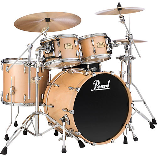 Pearl Session Studio Classic 4 Piece Shell Pack with Free 14 Inch Floor Tom Lacquer Platinum Mist with Chrome Hardware