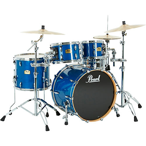Pearl Session Studio Classic 4 Piece Shell Pack with Free 14 Inch Floor Tom Sheer Blue with Chrome Hardware