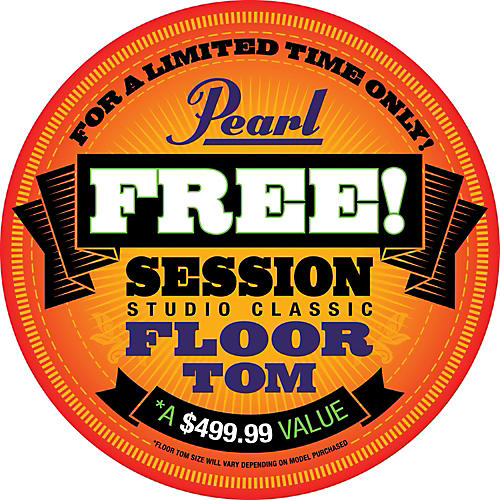 Pearl Session Studio Classic 4-Piece Shell Pack with Free 16-Inch Floor Tom