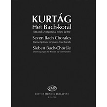 Editio Musica Budapest Seven Bach Chorales (Transcriptions for Piano, 4 Hands) EMB Series Softcover by Johann Sebastian Bach