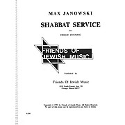 Transcontinental Music Shabbat Service For Friday Evening SATB composed by Max Janowski