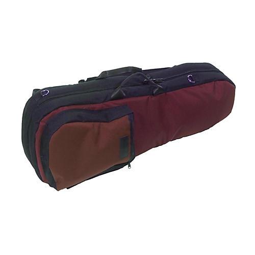 Mooradian Shaped Violin Case Slip-On Cover Burgundy with Shoulder Strap