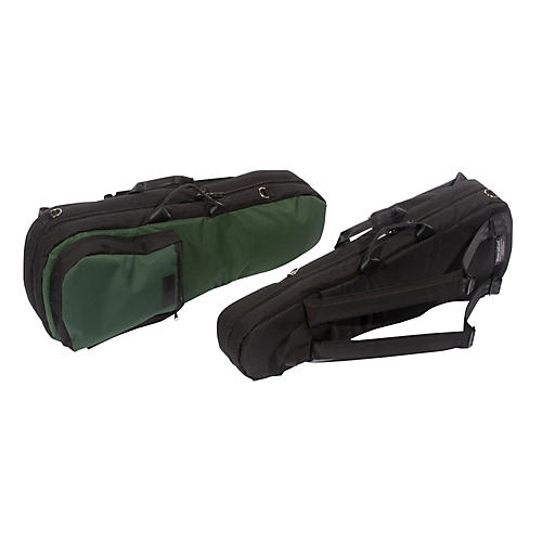 Mooradian Shaped Violin Case Slip-On Cover Green with Shoulder Strap
