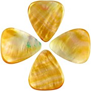 Timber Tones Shell Tones Gold MOP Single Plectrum Guitar Pick