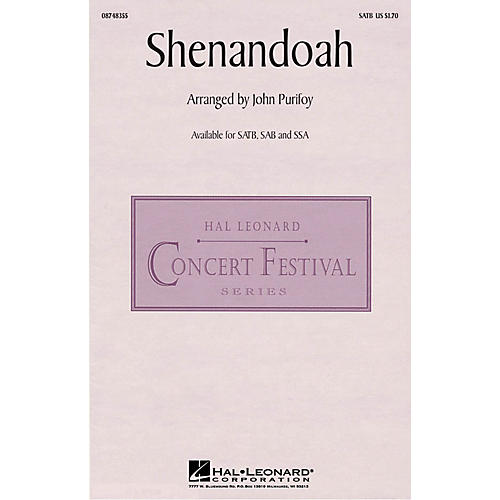 Hal Leonard Shenandoah SATB arranged by John Purifoy