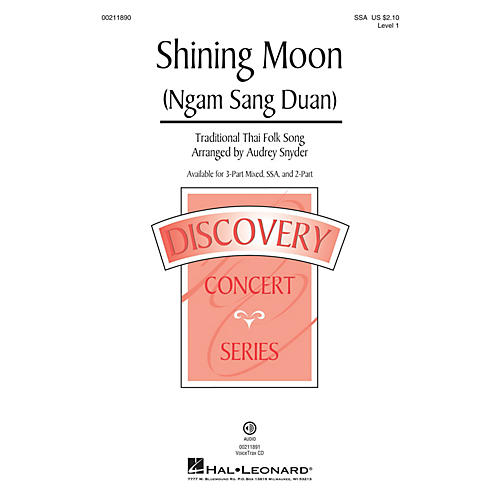 Hal Leonard Shining Moon (Ngam Sang Duan) (Discovery Level 1) SSA arranged by Audrey Snyder