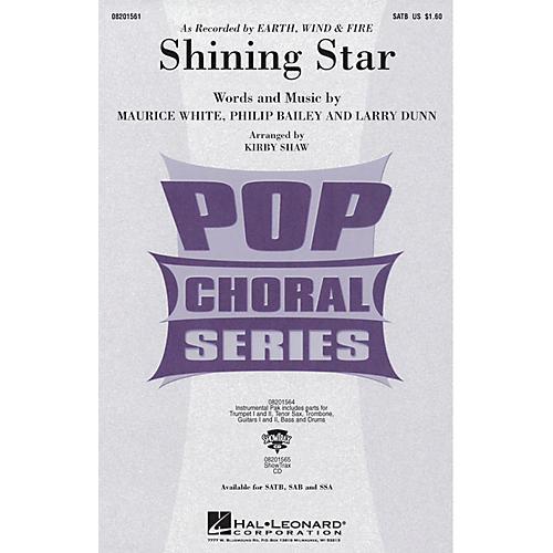 Hal Leonard Shining Star SATB by Earth, Wind & Fire arranged by Kirby Shaw