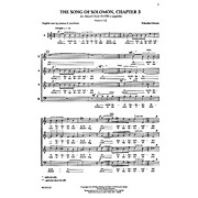Transcontinental Music Shir Hashirim (Song of Solomon 3) SATB composed by Yehezkel Braun
