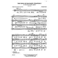 Transcontinental Music Shir Hashirim (Song of Solomon 3) SATB composed by Yehezkel Braun