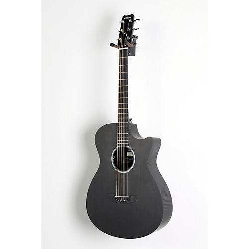 Rainsong Shorty Satin Acoustic-Electric Guitar Graphite 888366003626 UsedGrade2-thumbnail
